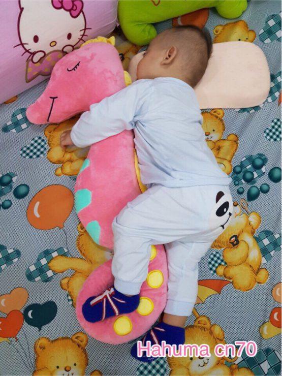 Gối ôm cá ngựa bông cho bé sơ sinh ôm ngủ